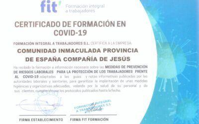 Certificado Empresa formada contra COVID-19