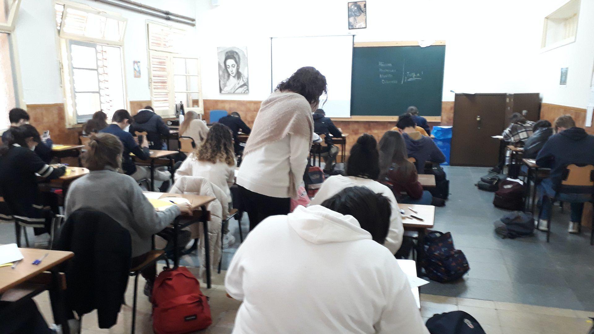 Exámenes segunda evaluación bachillerato