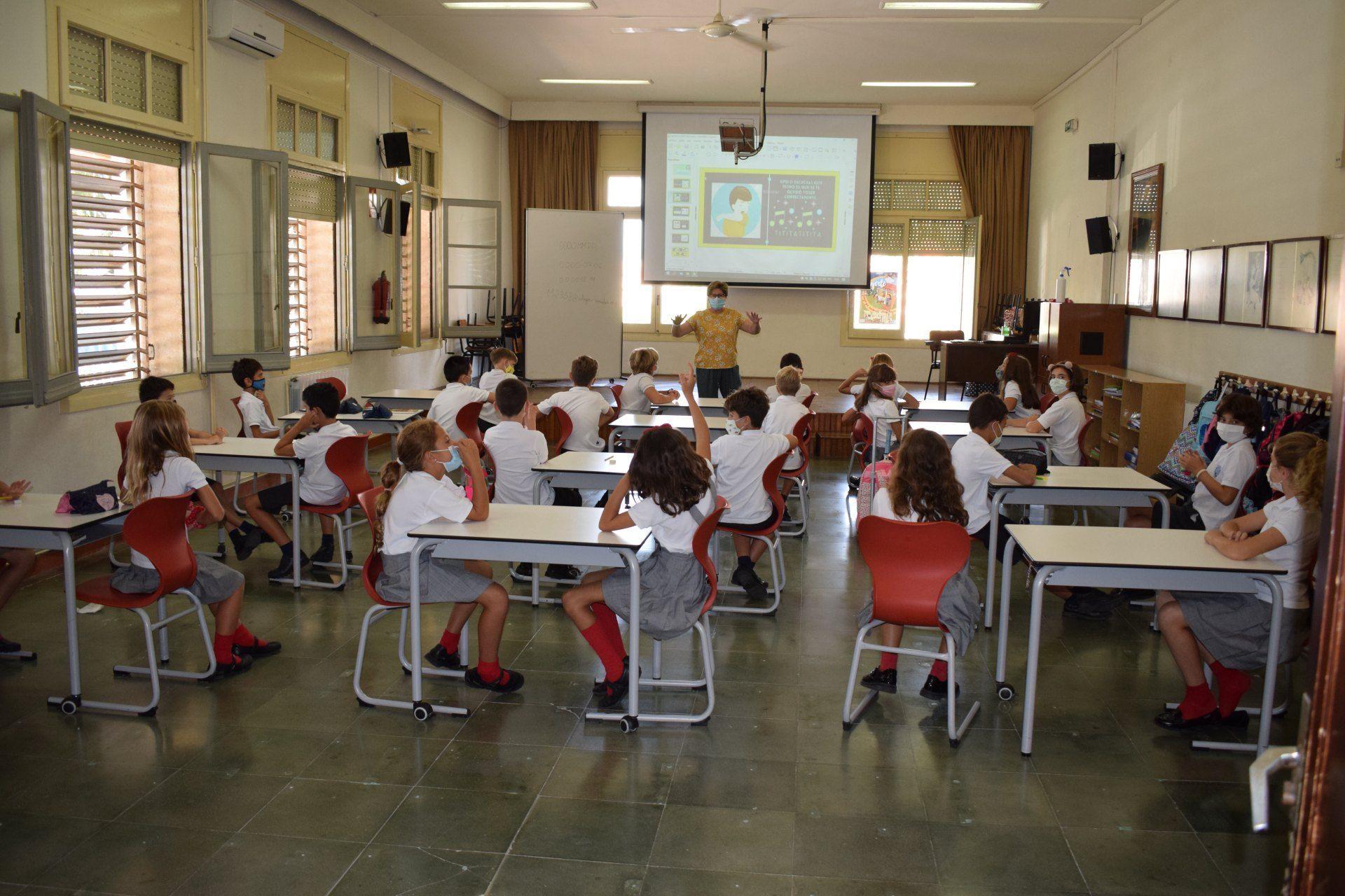 Aulas primaria en tiempos de la COVID